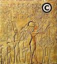 Akhenaten and family worshiping the copyright Aten