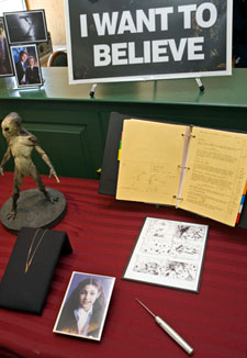 X-Files memorabilia at the Smithsonian