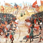Medieval illumination of Battle of Agincourt