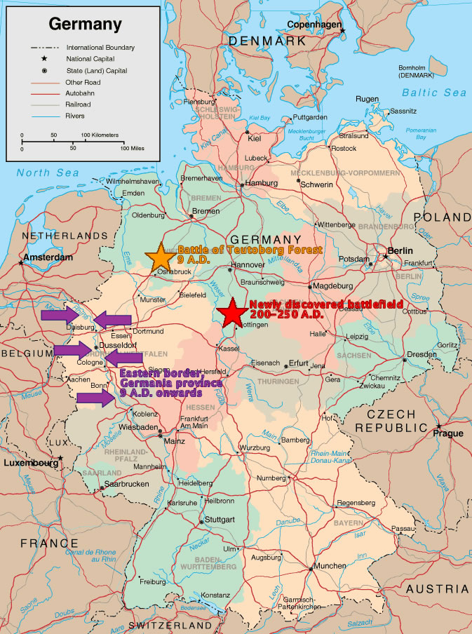 The History Blog Blog Archive Surprisingly Late Roman - Germany map key