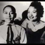 Emmett Till and his mother,