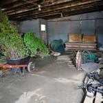 Till's casket in the garage