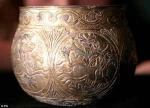 Gilt silver cup from the Vale of York hoard