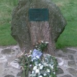 Bosworth Field memorial stone commemorating Richard III's death