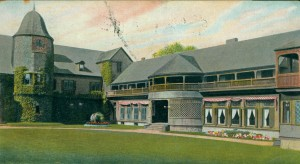 Postcard of North Wing of Newport Casino, ca 1900