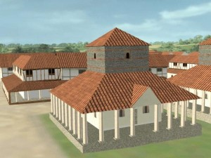 3D rendering of Caistor Roman Town