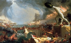 The Course of Empire: Destruction, by Thomas Cole, 1833-36