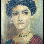 Female portrait, tempera on wood, ca. 110-130 A.D.
