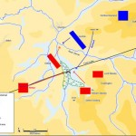Map of Foss' Redesmore battlefield theory