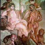 Hercules and Telephus, fresco, 50-79 A.D.