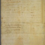 Mary's last letter to Henri III, address
