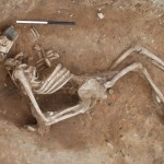 Unusual Roman skeleton buried sideways