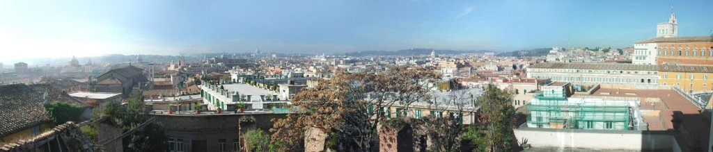View from the Scuderie del Quirinale museum