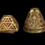 Gold pyramid sword fitting