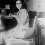 Anne Frank writing, 1941