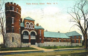 Glens Falls State Armory, postcard, 1907