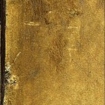 Closeup of Leonardo&#039;s fingerprint on the drawing