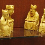 Lewis chessmen (kings and queens) in the British Museum