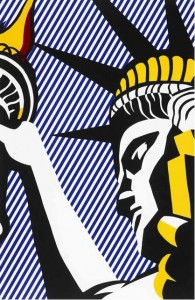 Lichtenstein Statue of Liberty lithograph