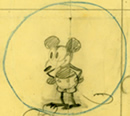 Earliest Mickey Mouse drawings, by various artists including Ub Iwerks