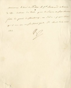 Napoleon autograph