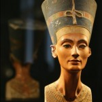 Limestone and stucco bust of Nefertiti