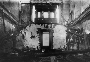 Neues central stairway after November 1943 bombings