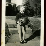 Scary old timey clown
