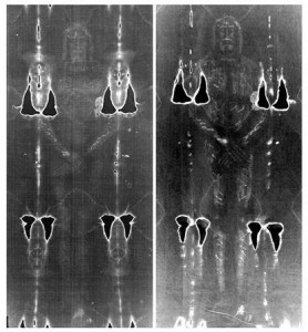 Shroud of Turin on the left, Garlaschelli's new one on the right