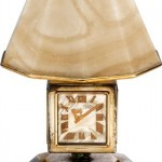 1930s Cartier Art Deco desk clock lamp