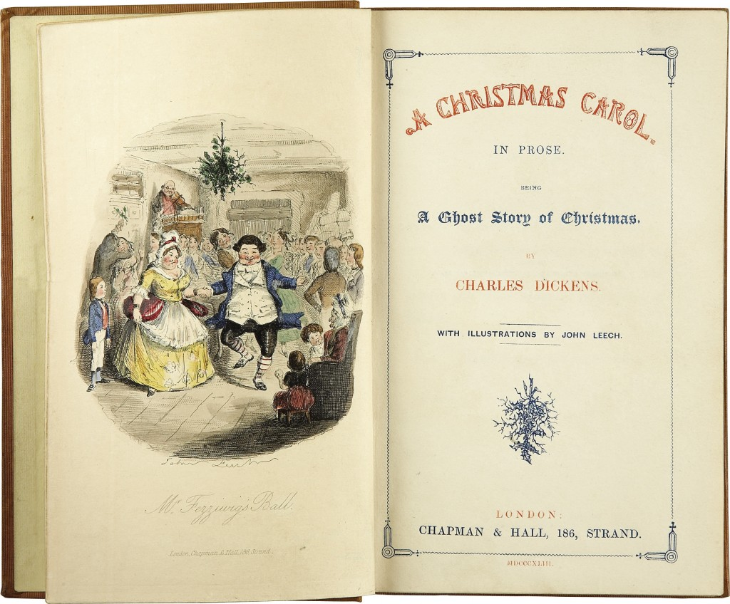 "Charles Dickens' ""A Christmas Carol"", title page, First edition, 1843"
