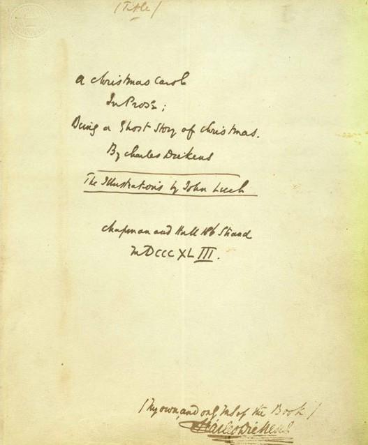 dickens orginal manuscript of a christmas carol - Original Christmas Carol