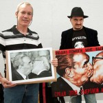 Bossu (left) with his picture, Vrubel (right) with a repro with his painting