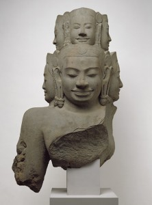 Bust of Hevajra, Angkor period, late 12th c. early 13th c. Cambodia, Metropolitan Museum of Art