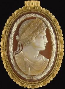 Sardonyx cameo of Emperor Constantine, 4th c. A.D.