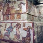 Mayan murals, Calakmul, Mexico