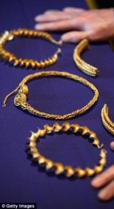 Four gold torcs, 1-3 B.C.