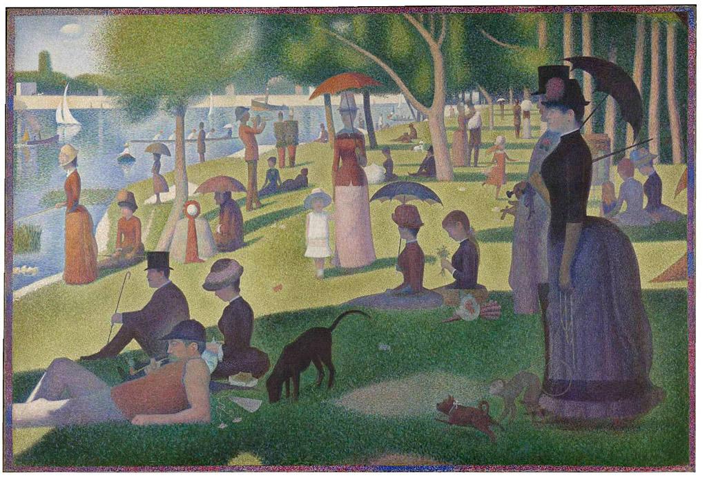 Un dimanche après-midi à l'Île de la Grande Jatte, by Georges Seurat