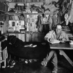 Captain Robert Scott writing in his diary, Cape Evans Hut, winter 1911