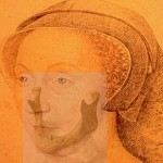 Jaw bone fragment superimposed on Diane de Poitiers' last portrait