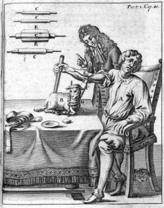 An early blood transfusion from lamb to man in 1705