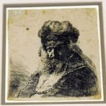 Rembrandt etching found in CUA bathroom