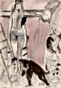 """""""Apocalypse in Lilac"""" by Marc Chagall, 1945"""