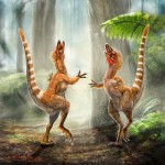 Artist recreation of russet Sinosauropteryx