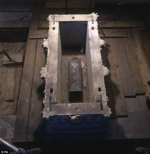 Tomb with lead coffin inside