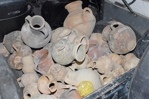 Ancient terracotta urns found in a car in Limassol 