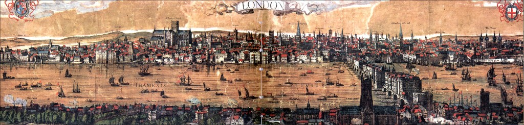 Visscher map of London, 1616, The Rose is no longer between The Globe and the Bear Garden