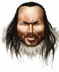 Artists impression of Inuk, Saqqaq man who unwittingly donated his hair to science 4000 years ago