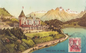 Postcard of Badrutt&#039;s Palace hotel