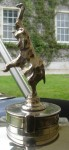 Bugatti Royale hood ornament, cast from Rembrandt Bugatti bronze